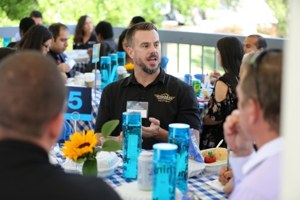 Ben Cook as Entrepreneur guest at the CSUSB Lunch + Entrepreneurs event